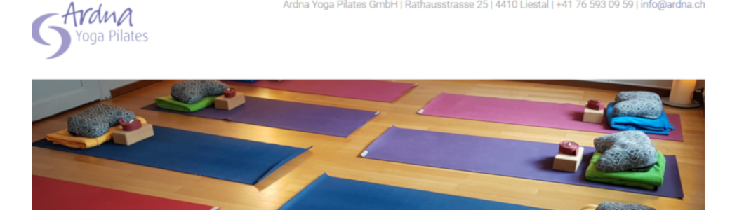 Website Ardna Yoga Pilates GmbH